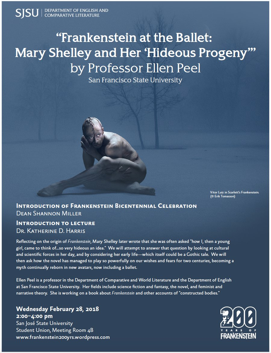 """""""Frankenstein at the Ballet: Mary Shelley and Her 'Hideous Progeny,'"""" by  Professor Ellen Peel, San Francisco State University"""